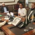 Azad Kashmir Prime Minister Meeting with Mufti Sajid Shah